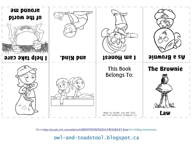 Owl & Toadstool: Brownies Promise & Law Minibooks